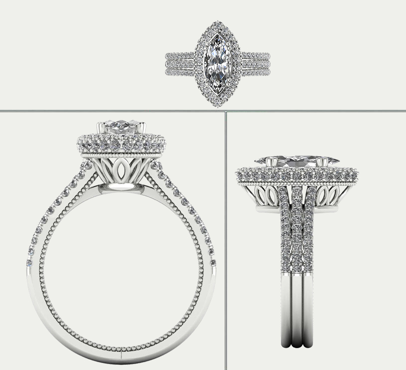 anatomy of a custom designed engagement ring